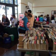 Image: People browsing at the Friends book sale